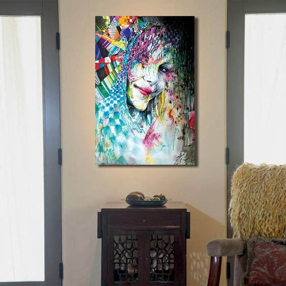 Colorful Abstract Woman Wall Art Print