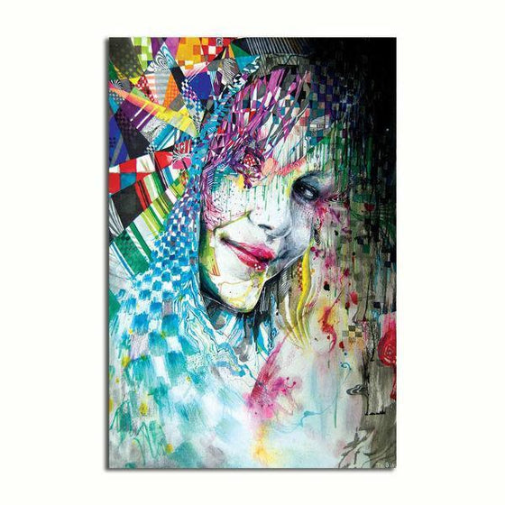 Colorful Abstract Woman Wall Art