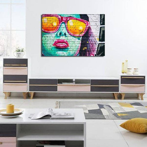 Colorful Contemporary Graffiti Wall Art Canvas