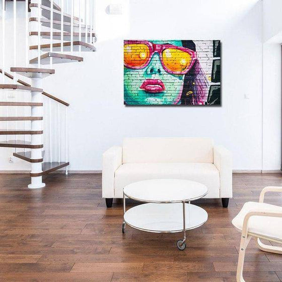 Colorful Contemporary Graffiti Wall Art Decor