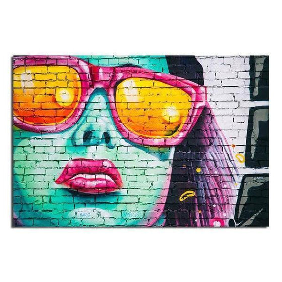 Colorful Contemporary Graffiti Wall Art