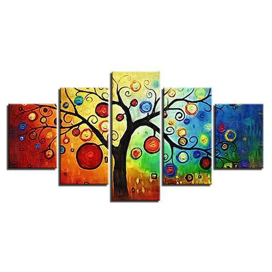 Colorful Contemporary Tree Wall Art Canvas
