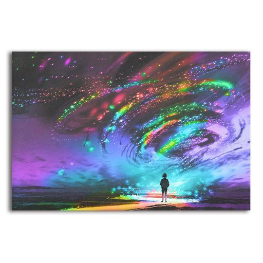 Colorful Cosmic Storm 1 Panel Canvas Wall Art