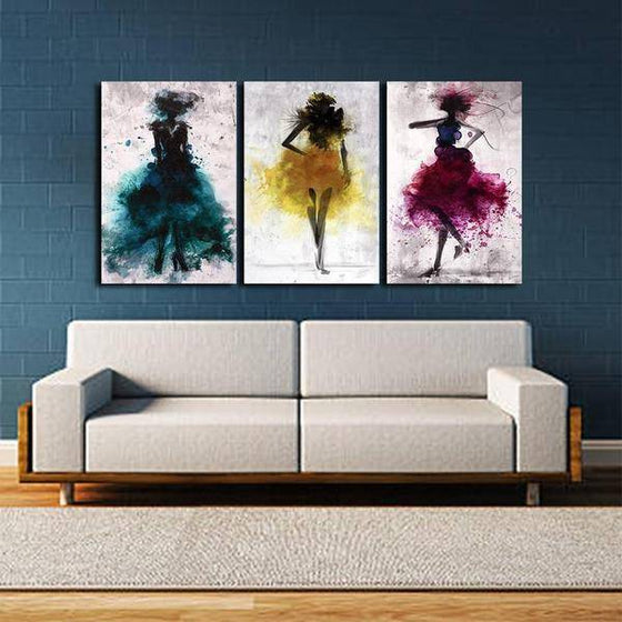 Colorful Dancers Wall Art Canvas