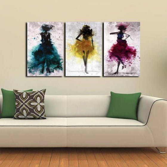 Colorful Dancers Wall Art Decor
