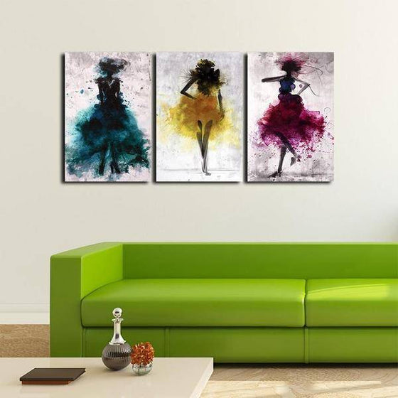 Colorful Dancers Wall Art Print