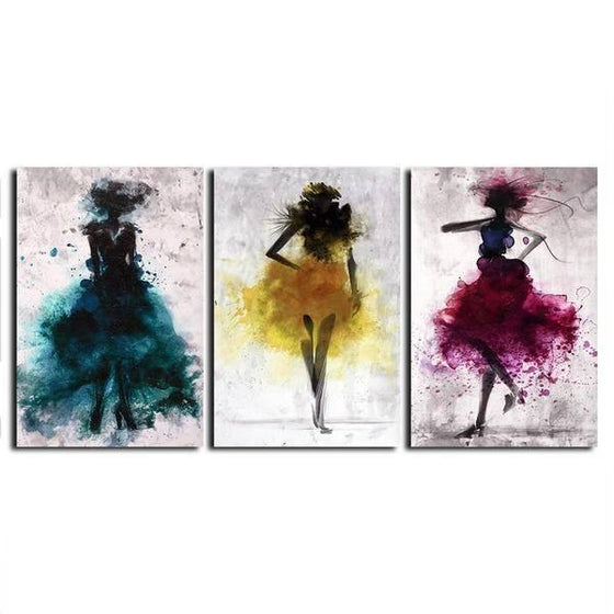 Colorful Dancers Wall Art