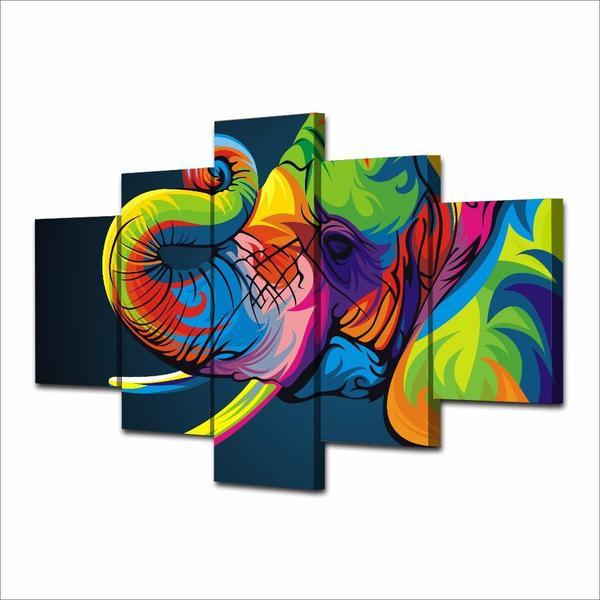 Colorful Elephant Trunk Wall Art Decor