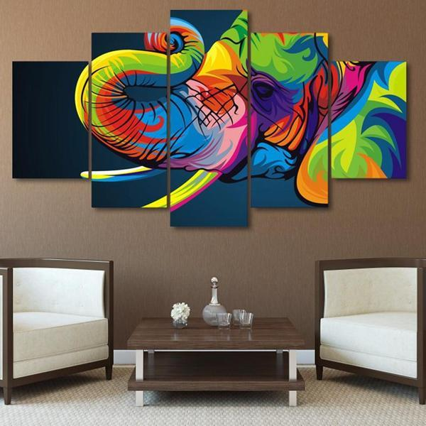Colorful Elephant Trunk Wall Art