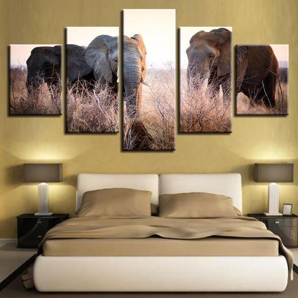 Colorful Elephant Wall Art Canvas