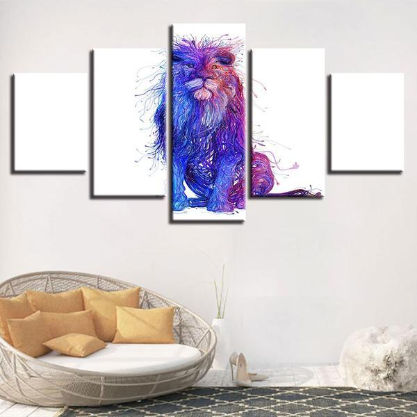 Colorful King Of The Jungle Wall Art Canvas