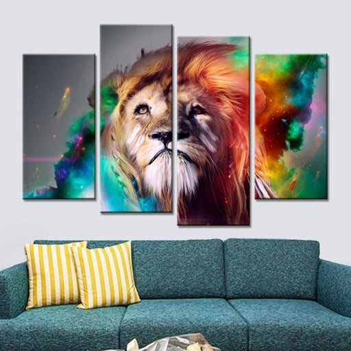Colorful Lion Wall Art