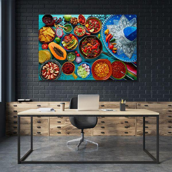Colorful Mexican Food Canvas Wall Art Decor
