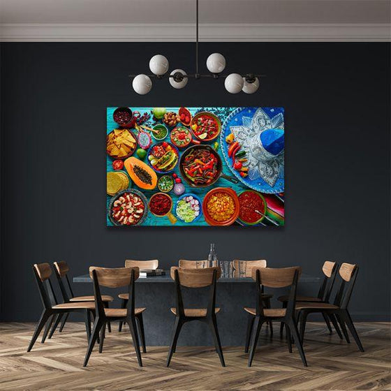 Colorful Mexican Food Canvas Wall Art Dining Room