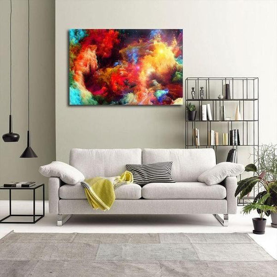Colorful Modern Abstract Canvas Wall Art Living Room