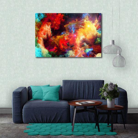 Colorful Modern Abstract Canvas Wall Art Print