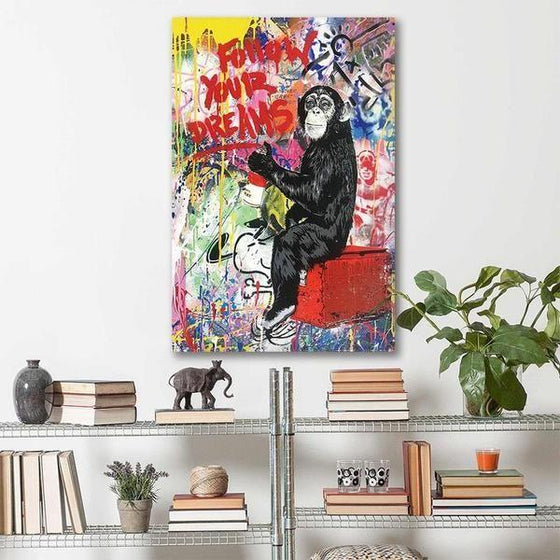 Colorful Monkey Graffiti Canvas Wall Art Decor