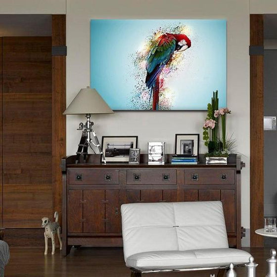 Colorful Parrot Canvas Wall Art Bedroom