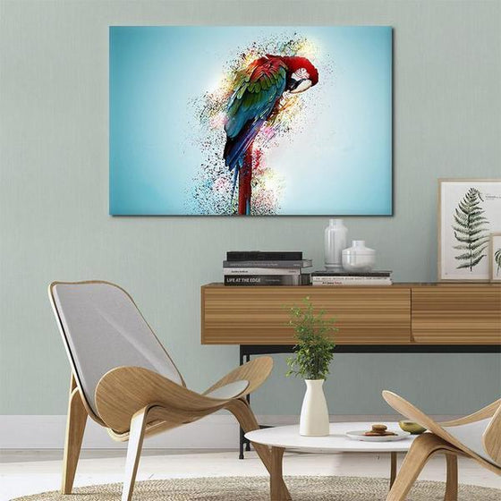 Colorful Parrot Canvas Wall Art Decor