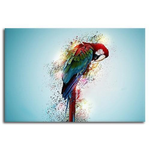 Colorful Parrot Canvas Wall Art Decors