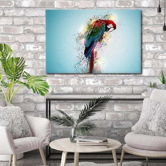 Colorful Parrot Canvas Wall Art Ideas
