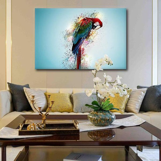 Colorful Parrot Canvas Wall Art Living Room