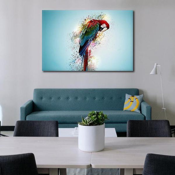 Colorful Parrot Canvas Wall Art Print