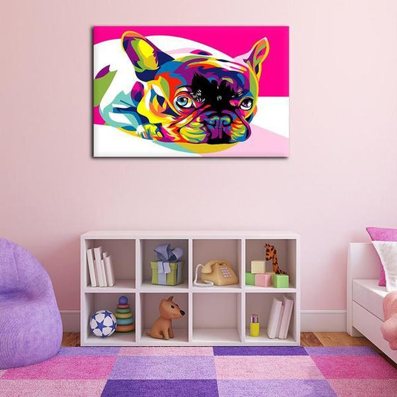 Colorful Pug Canvas Wall Art Decor