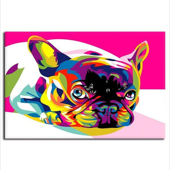 Colorful Pug Canvas Wall Art