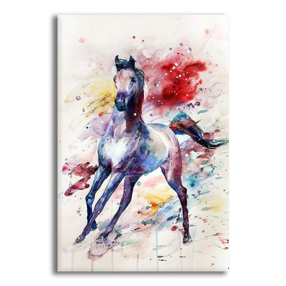 Colorful Wild Horse Canvas Wall Art