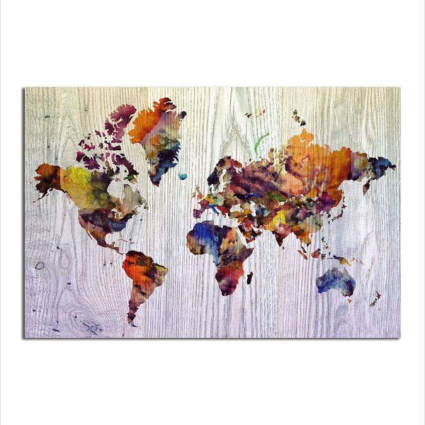 Colorful World Map Art.Colorful World Map Canvas Wall Art Modern Canvas Prints