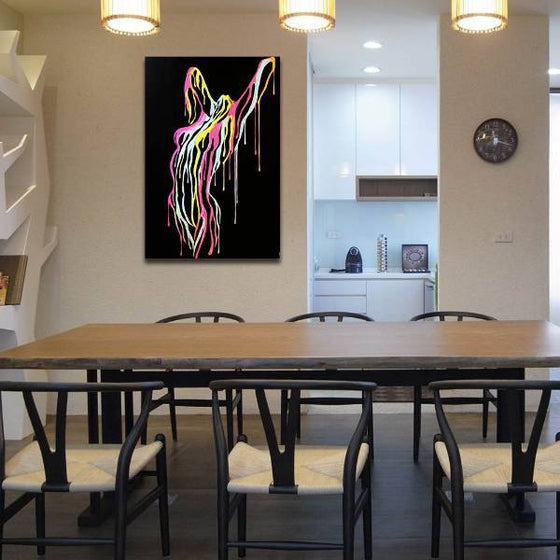 Confident Woman Body Wall Art Dining Room
