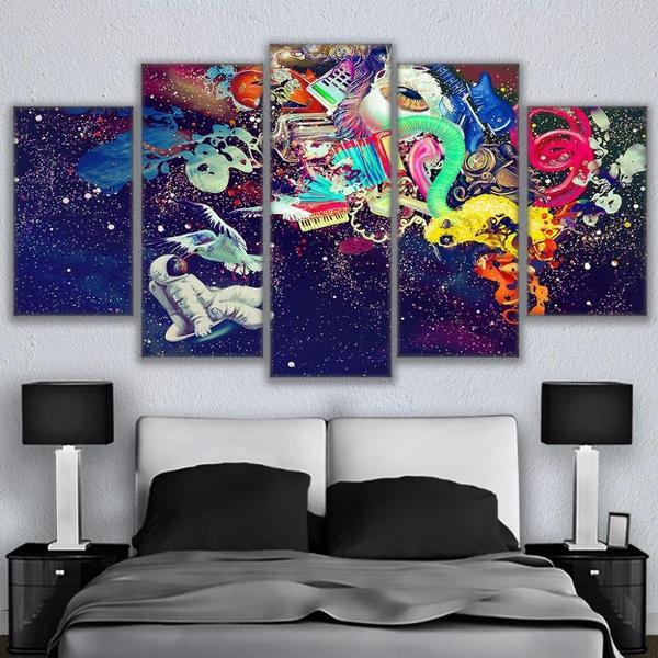 Contemporary Abstract Wall Art Bedroom