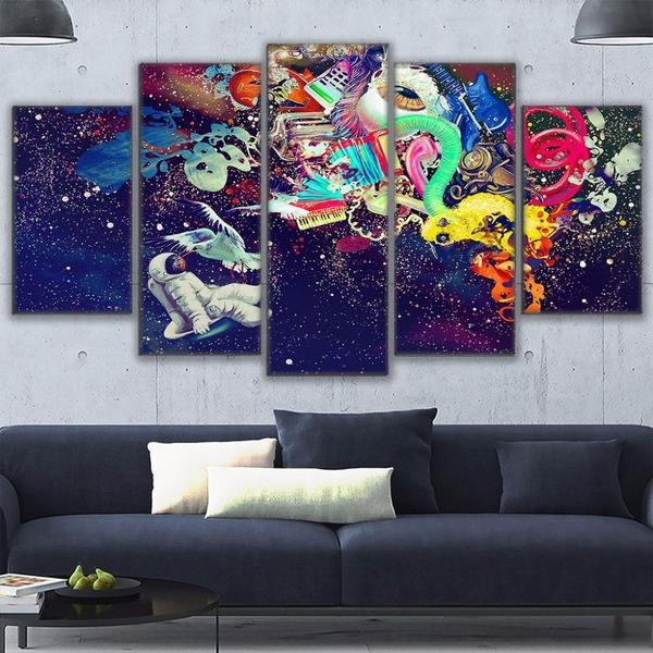Contemporary Abstract Wall Art Living Room