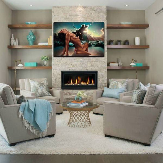 Contemporary Woman Body Wall Art Living Room