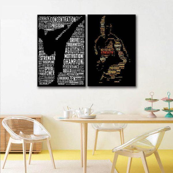 Cool Motivational Canvas Wall Art Dining Room