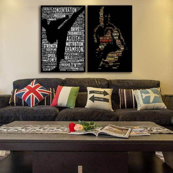 Cool Motivational Canvas Wall Art Living Room