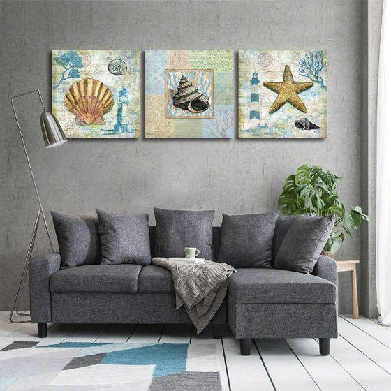 Crafty Sea Creatures Canvas Wall Art Decor