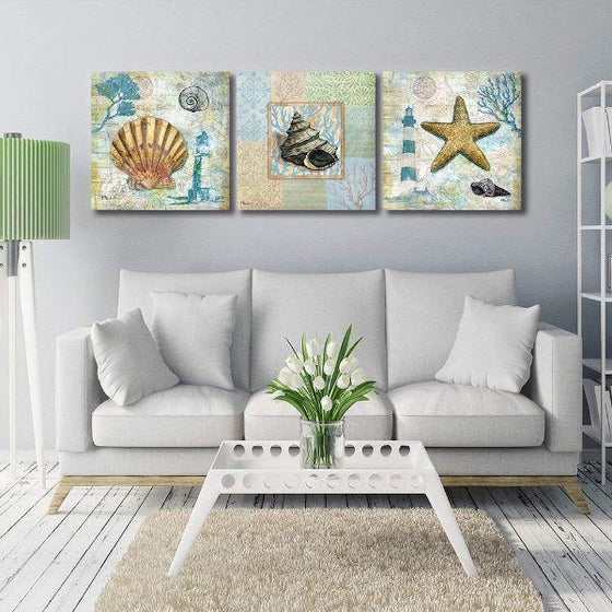 Crafty Sea Creatures Canvas Wall Art Ideas