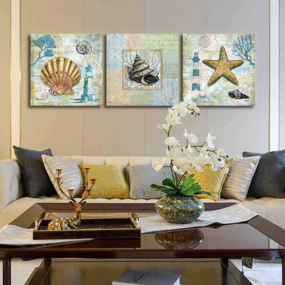 Crafty Sea Creatures Canvas Wall Art Prints