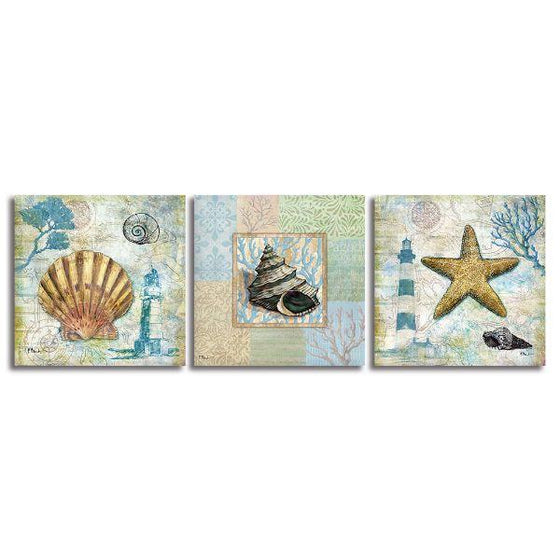 Crafty Sea Creatures Canvas Wall Art