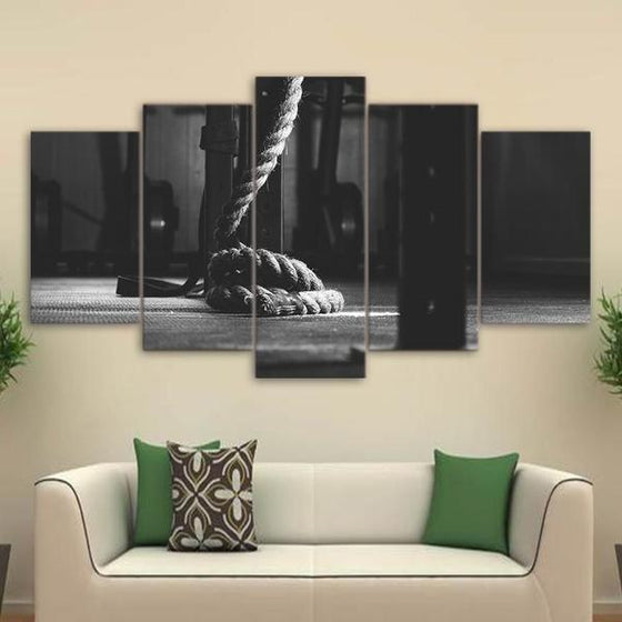 Crossfit Gym Equipment Canvas Wall Art Home Decor