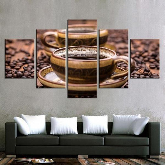 Freshly Brewed Hot Coffee Canvas Art Prints