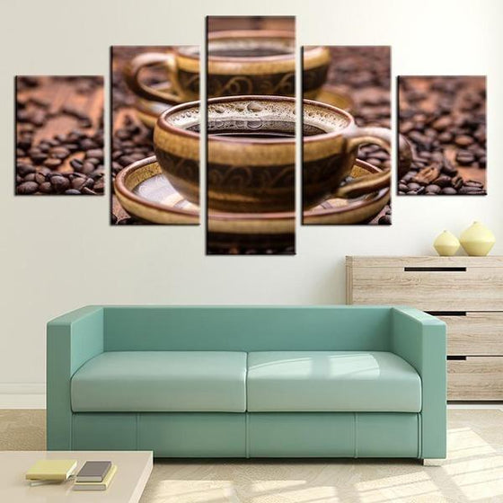 Freshly Brewed Hot Coffee Canvas Art Office