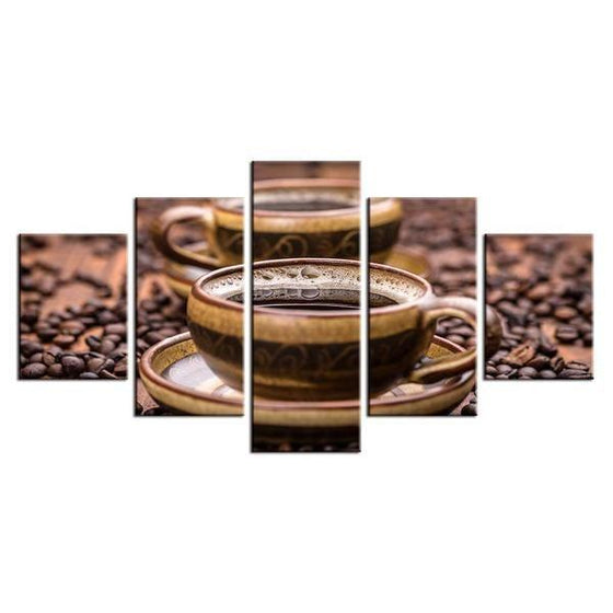 Freshly Brewed Hot Coffee Canvas Art