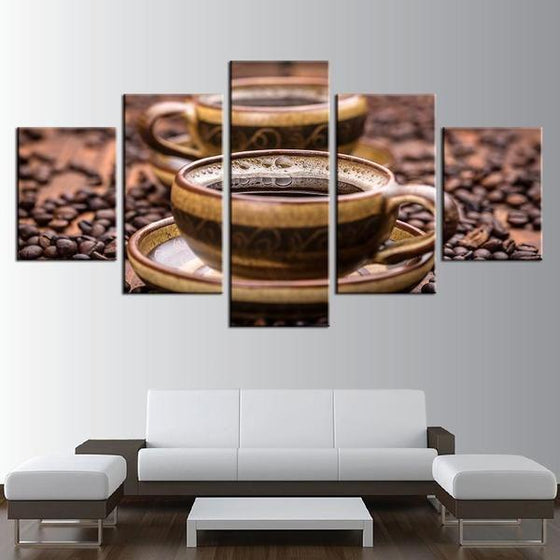Freshly Brewed Hot Coffee Canvas Art Decor