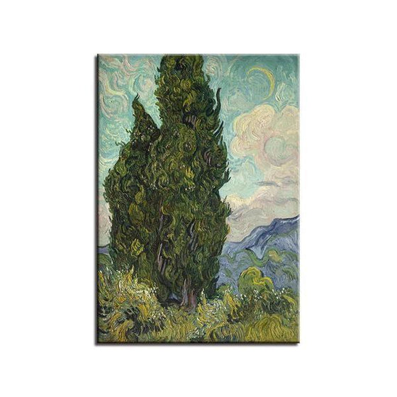 Cypress Van Gogh Wall Art Canvas