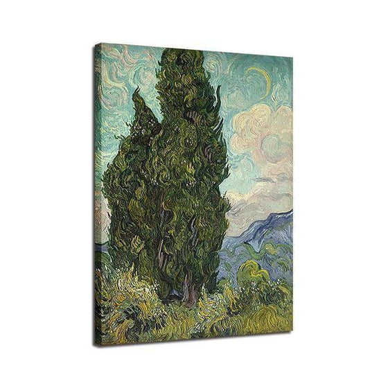 Cypress Van Gogh Wall Art Decor
