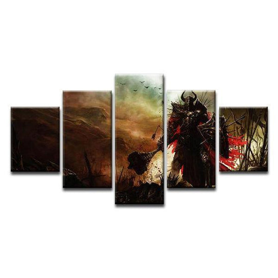 Diablo 3 Paladin Canvas Wall Art Ideas