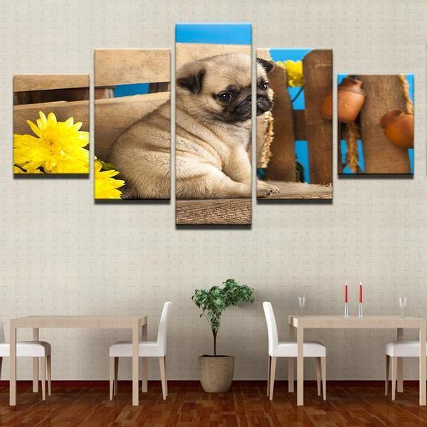 Dog Canvas Wall Art Print